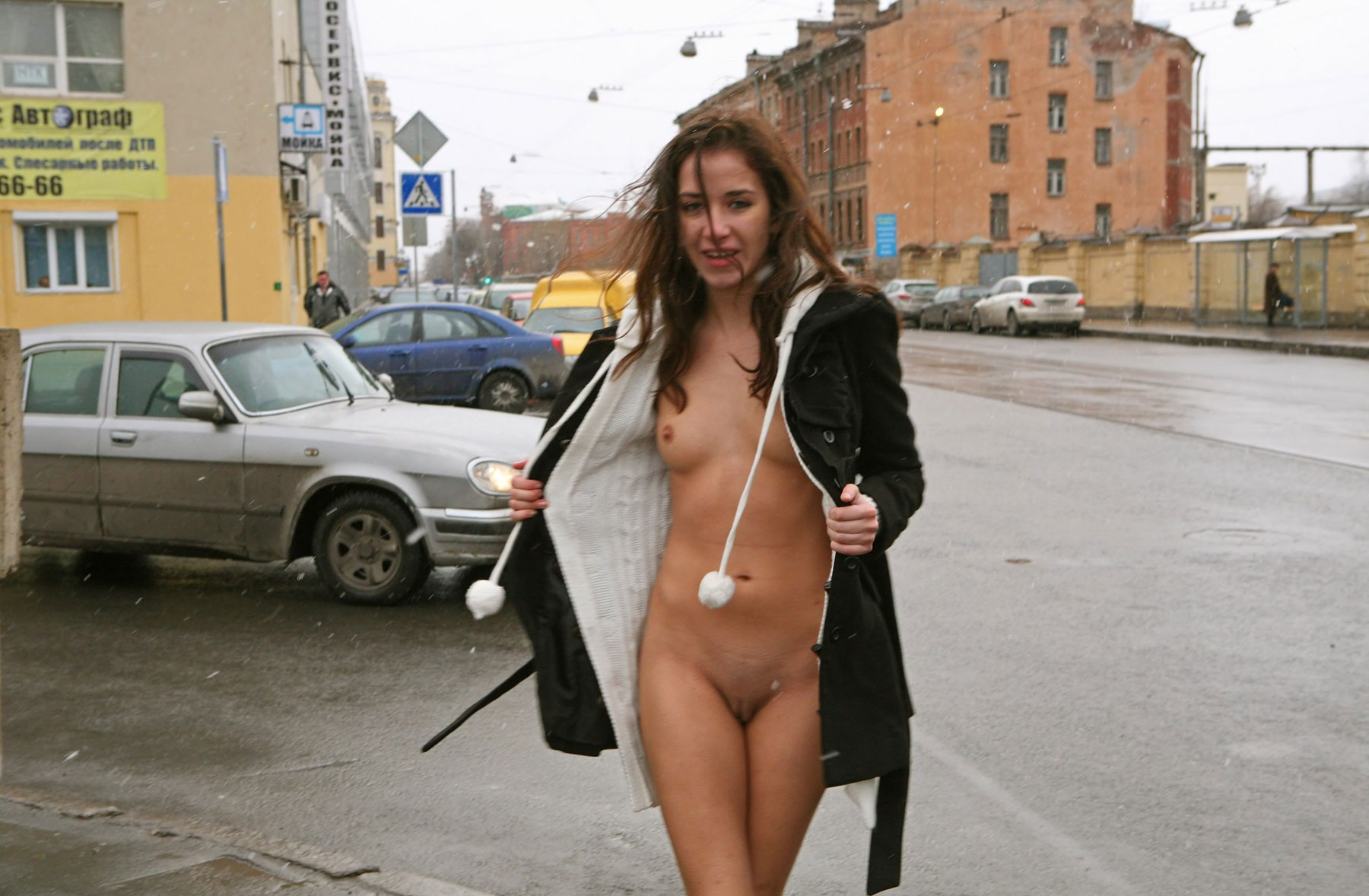 Naked chiks on the street