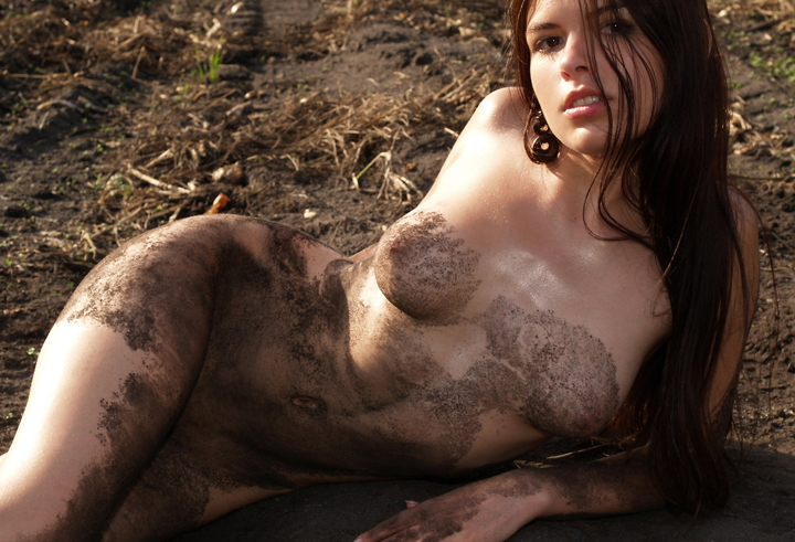Naked muddy girls