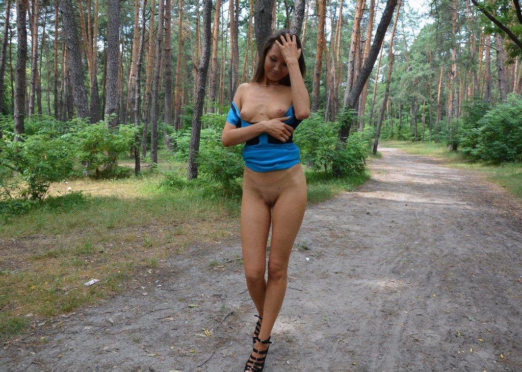 Girls walking in panties
