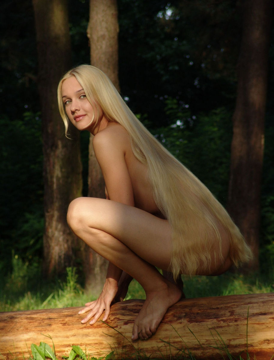 very long hair nude girls