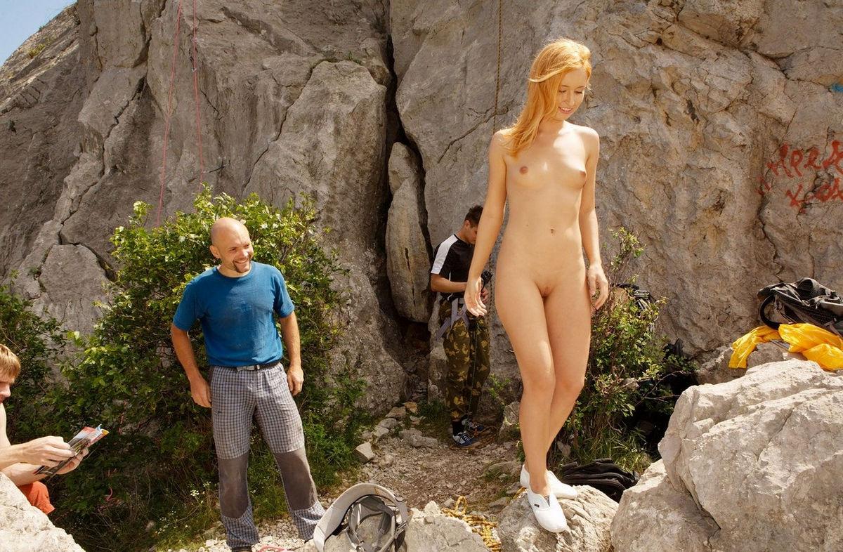 Naked wide hips