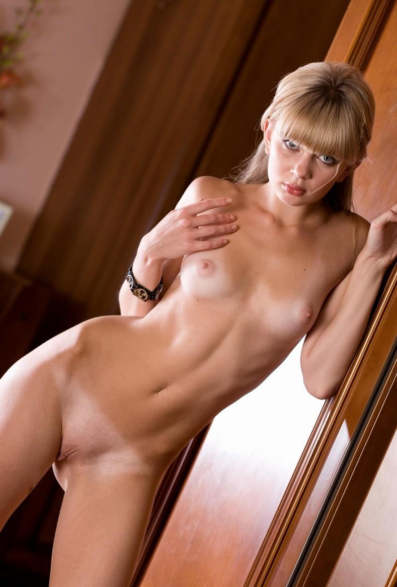 Very Sweet Blonde With Perky Tits At Home  Russian Sexy Girls-2777