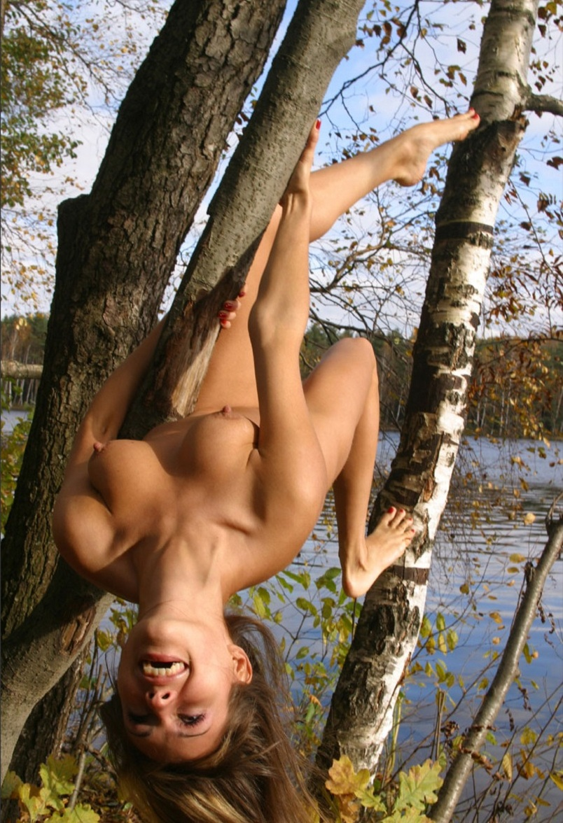 Hot Russian Girl With Sporty Body At Forest By The River -7227