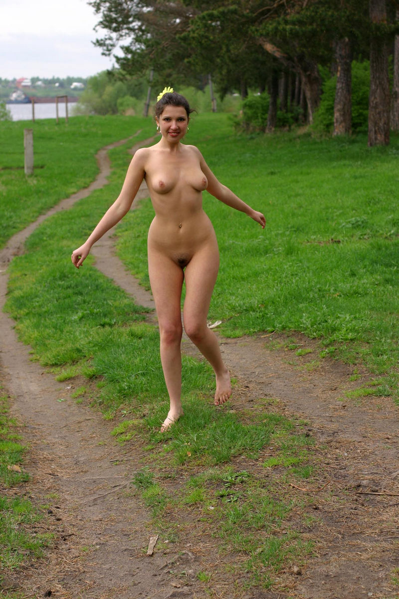 Naked girl woods