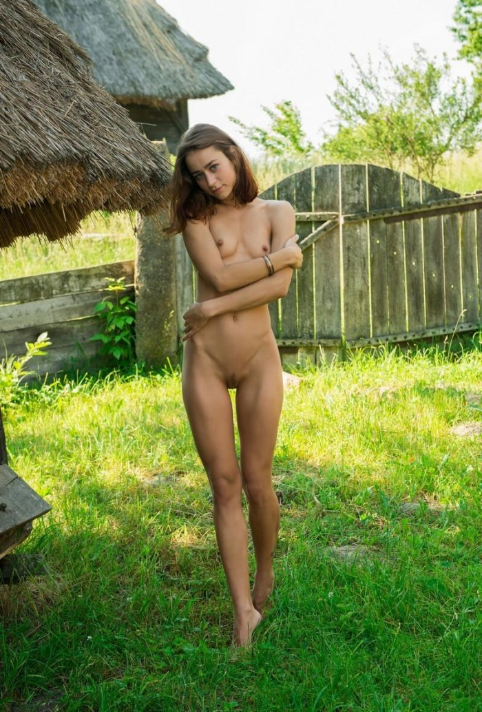 Skinny Russian Teen With Small Tits At Country  Russian -7483