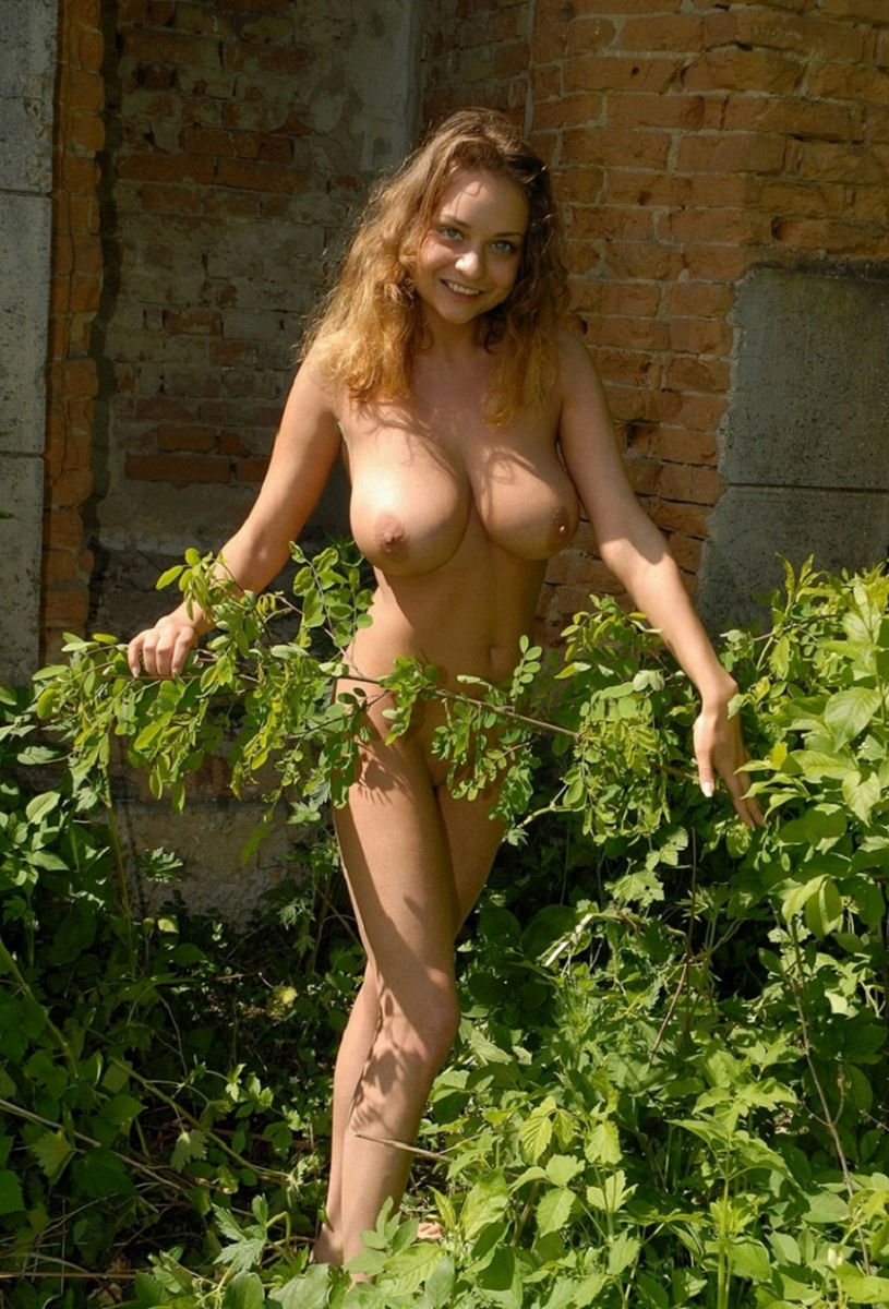 Cute Girl With Huge Boobs On The Ruins  Russian Sexy Girls-8386