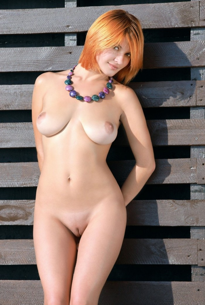 naked redheads with short hair