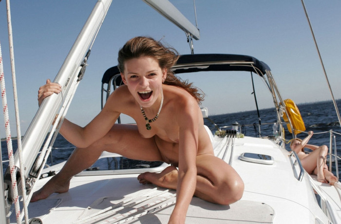 Skinny no tits but fucking hot blonde naked and masturbating on my boat in missouri