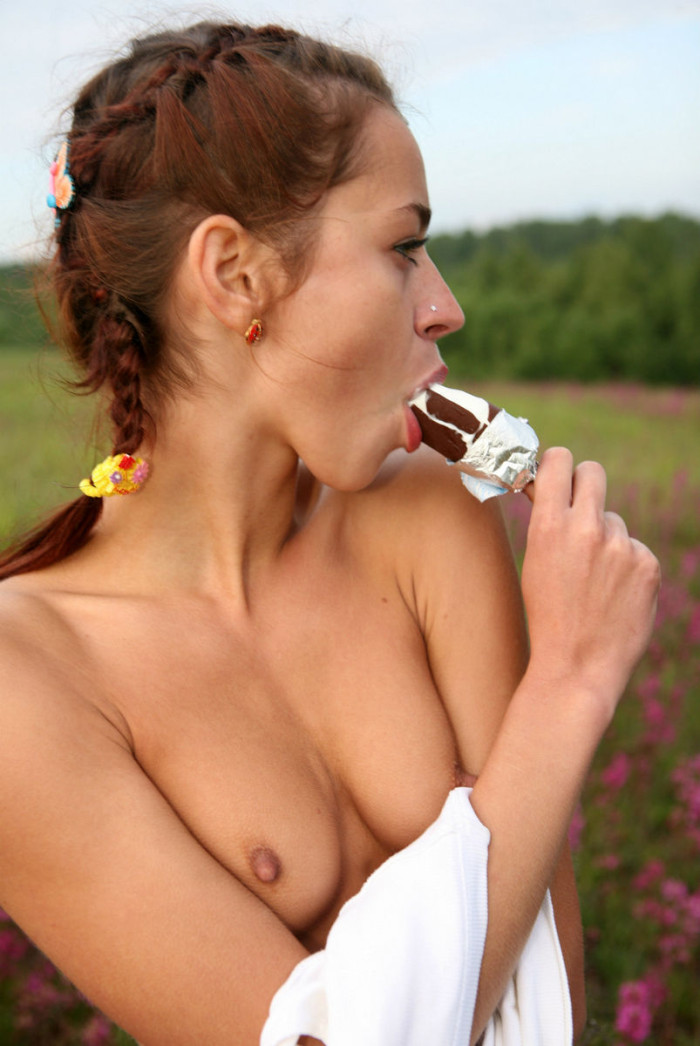 Opinion Young girls lick ice cream was specially