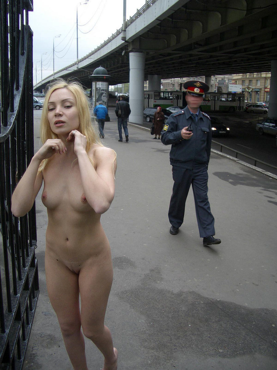 Completely naked in public