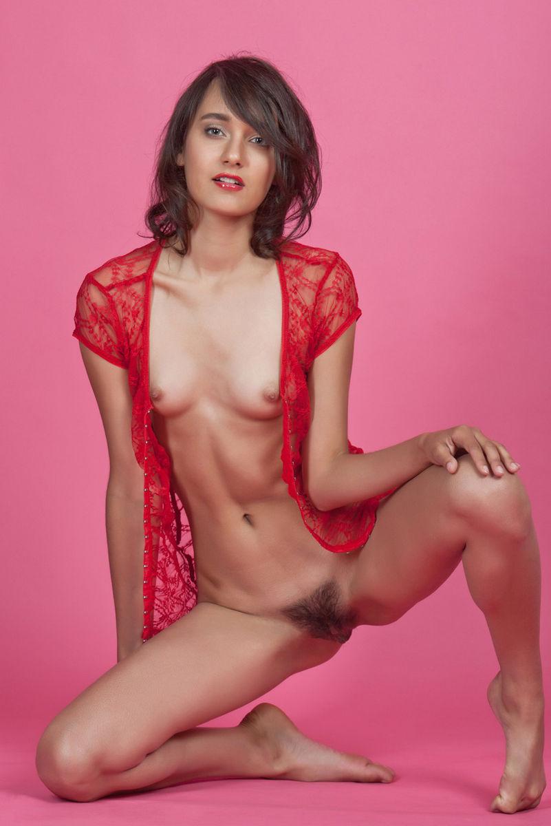 Рыжая девушка без белья с лохматой писей фото 730-209