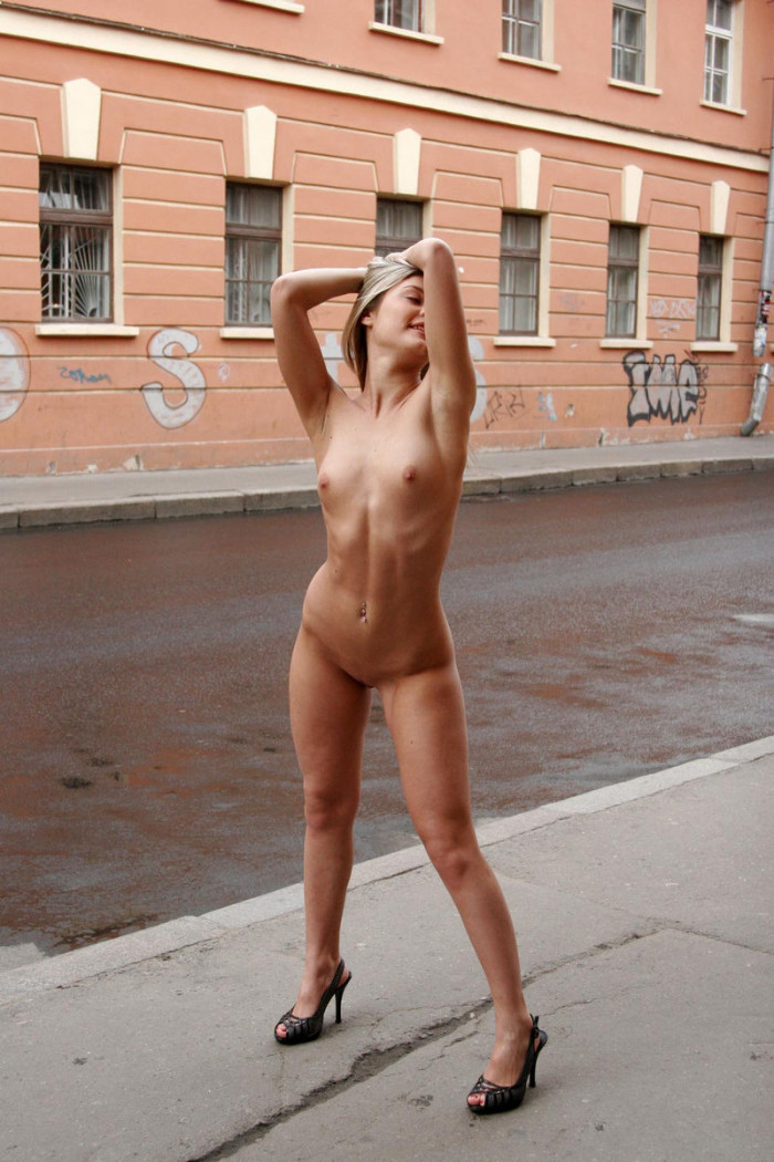 Nude girls in the morning