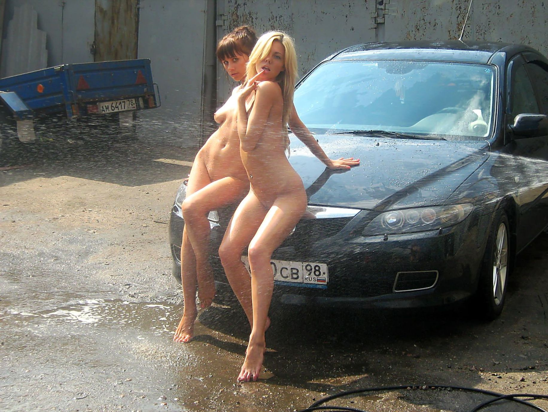 Carwash In Russian Style  Russian Sexy Girls-5020