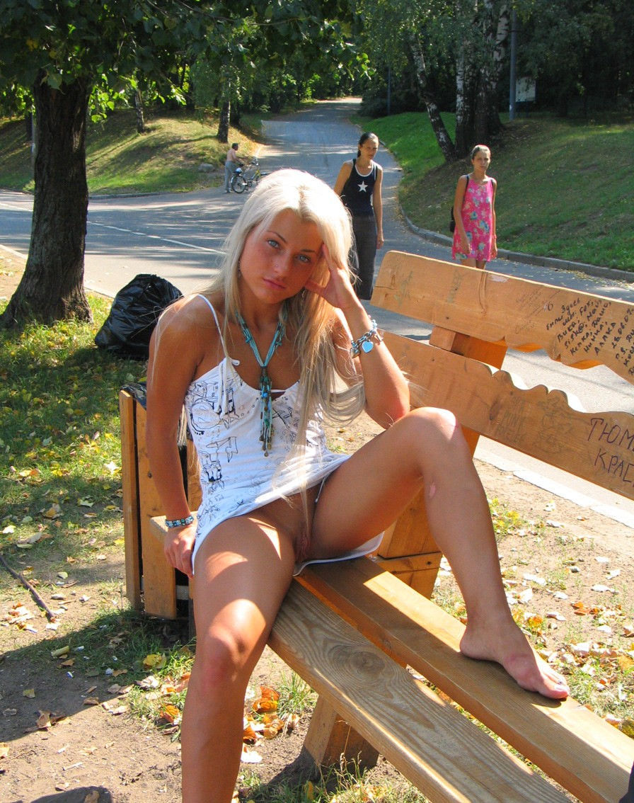 Anal Masturbation With Dildo At Public Park  Russian Sexy -9574