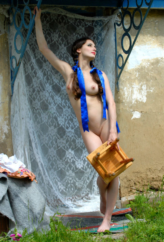 naked girl with pigtails from the village russian sexy girls