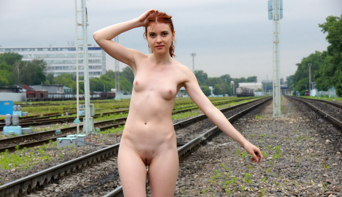 Girl naked on a train thanks for