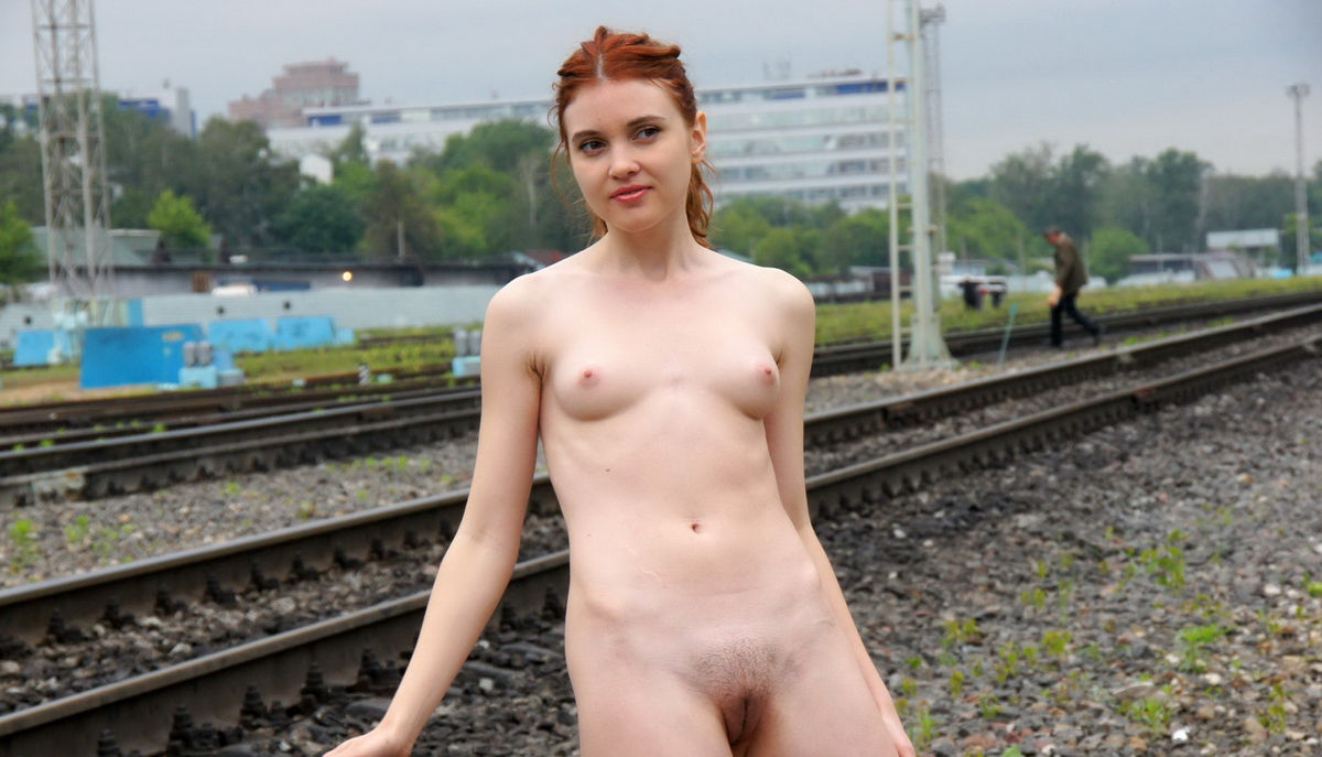 image Naked under a railway bridge