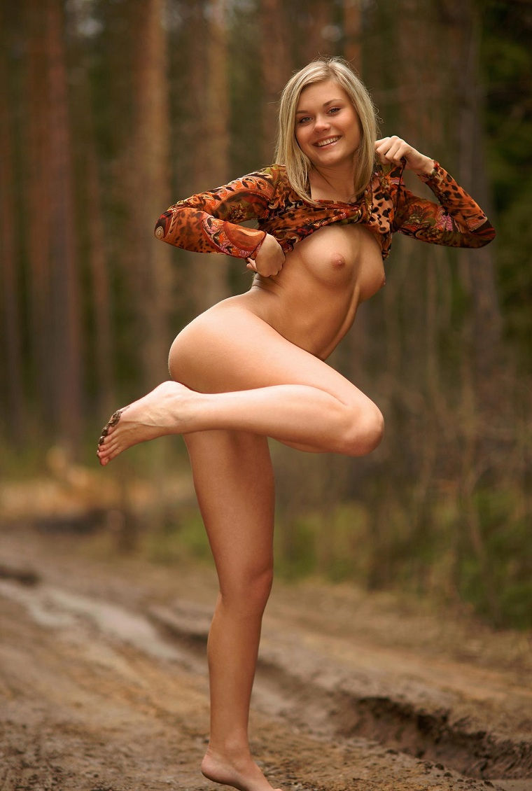 sexy pussy in the woods