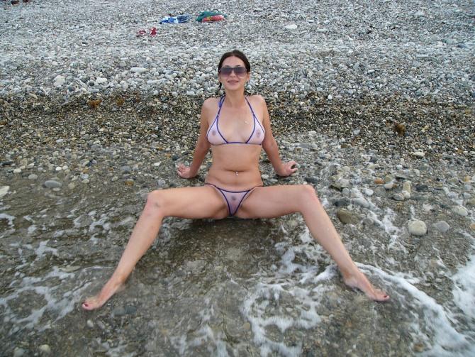 Interesting wife trying on bikini consider