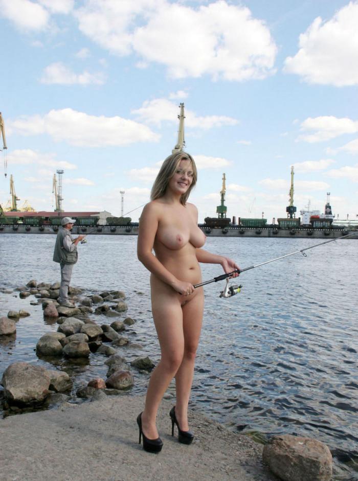 Naken Jenter Fisker Naken