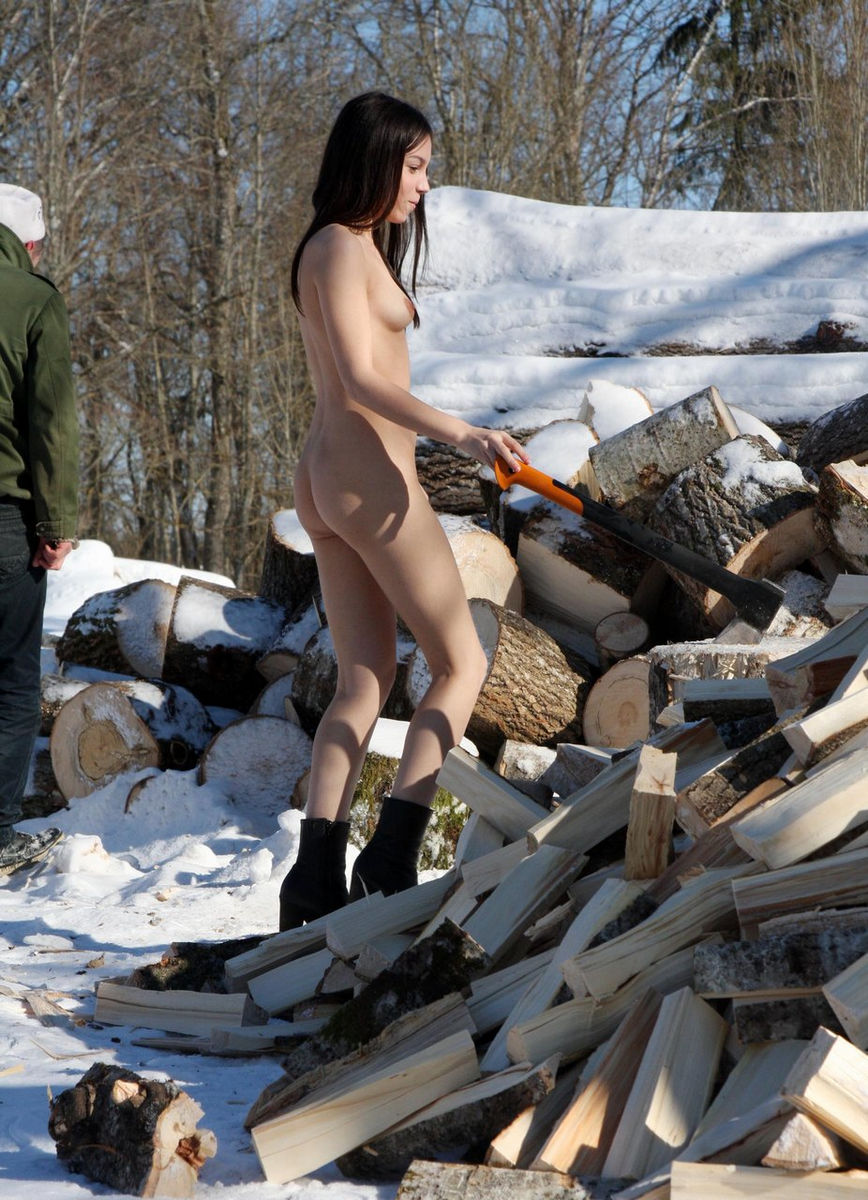 Apologise, but, Nude girls chopping wood