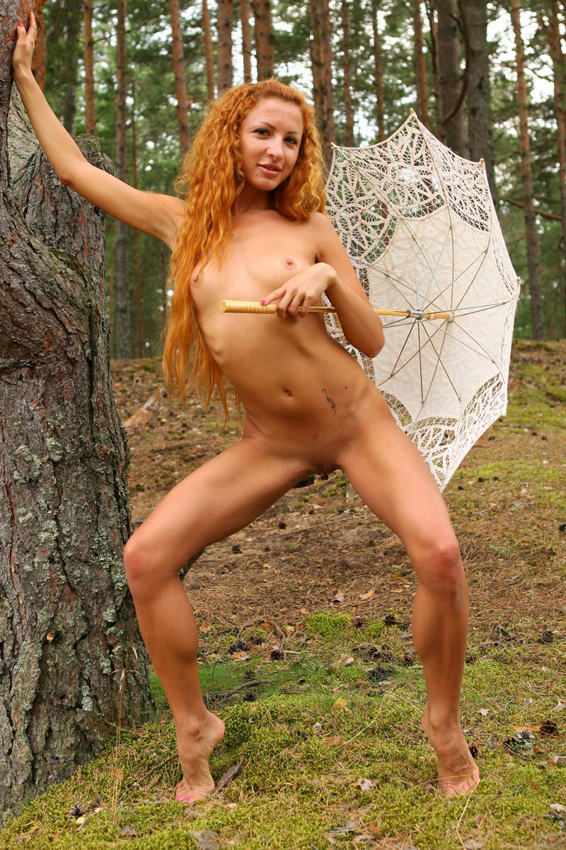 Naked girls red hair