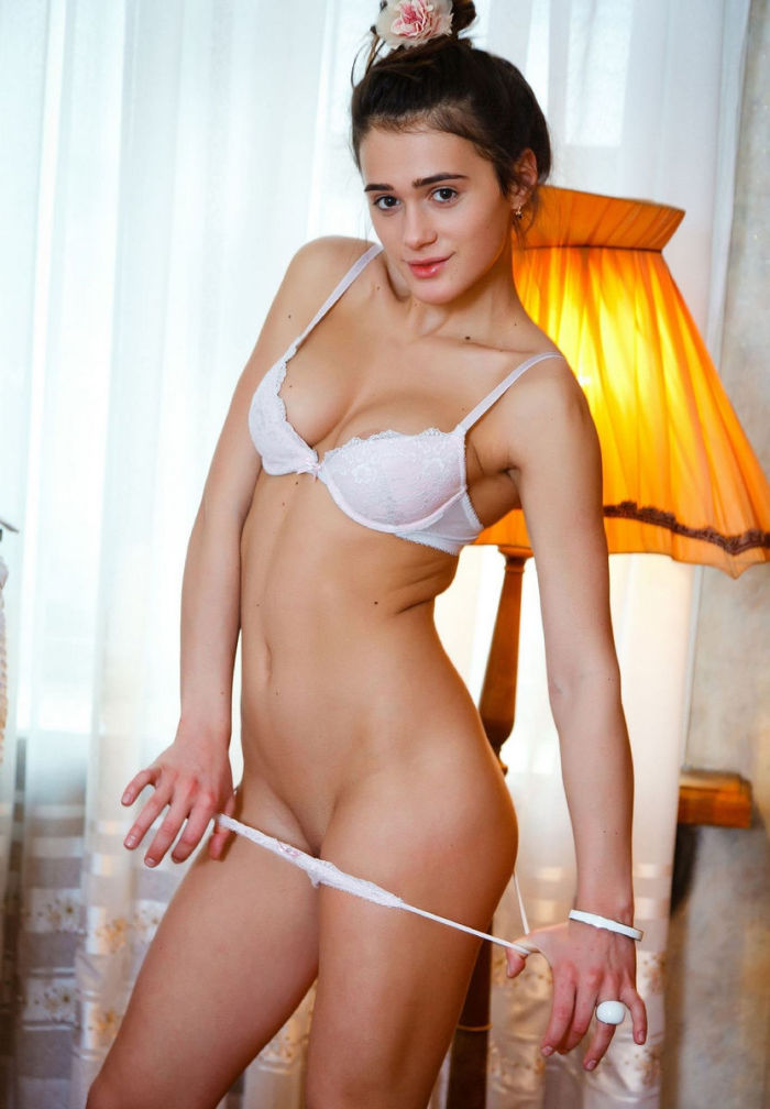 Penelope B Removes White Panties At Home  Russian Sexy Girls-9604