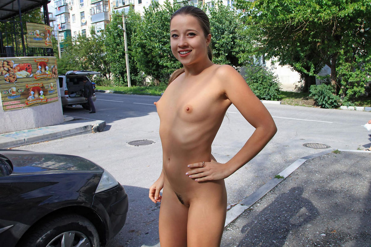 Shameless Teen With Small Tits Walks On Streets  Russian Sexy Girls-7157