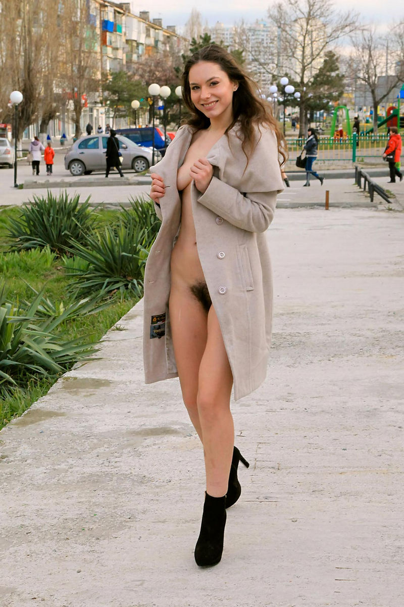Hairy girl nude in public you tell