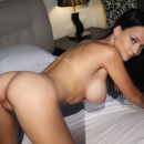 Gorgeous brunette Marica A with sweet boobs in bed