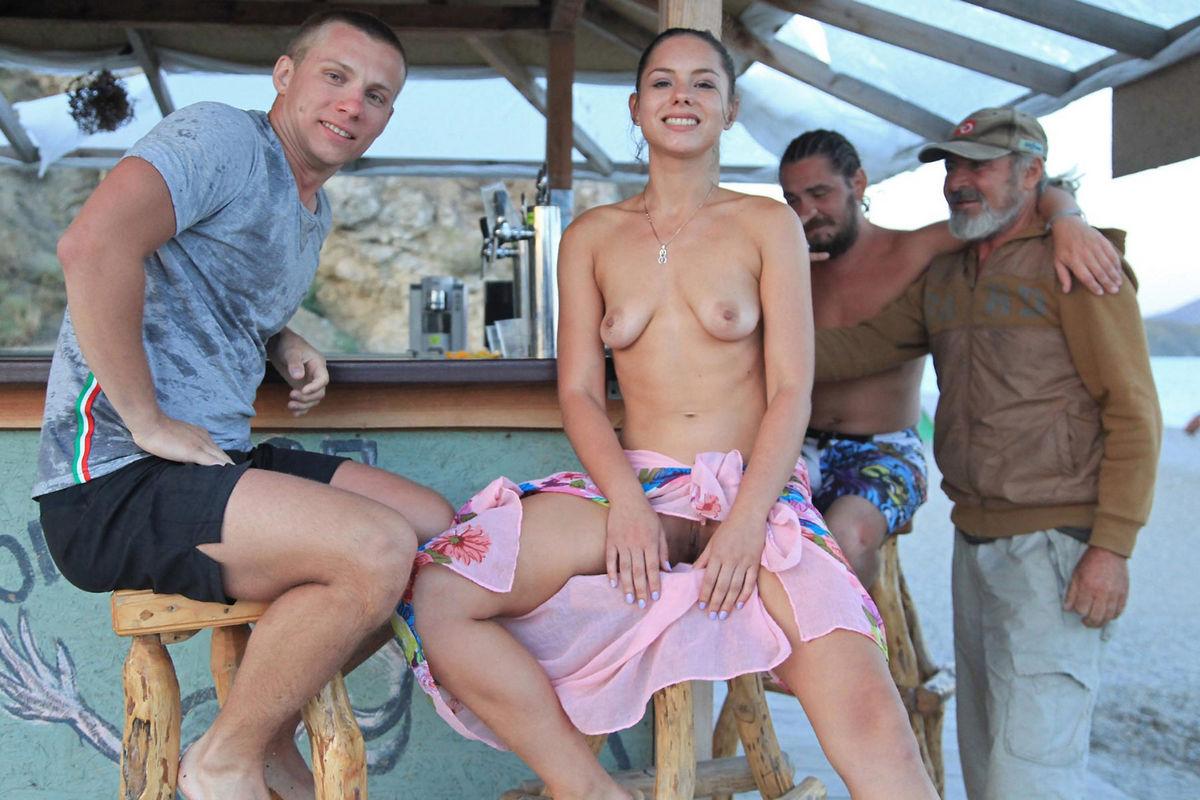 Nude girl on a bike-4193