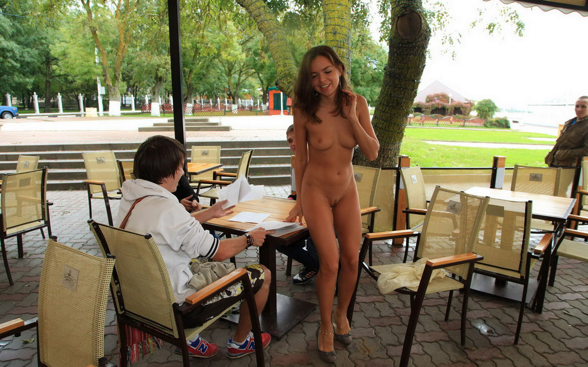 Erotic And Nude In Public On The Road Photo