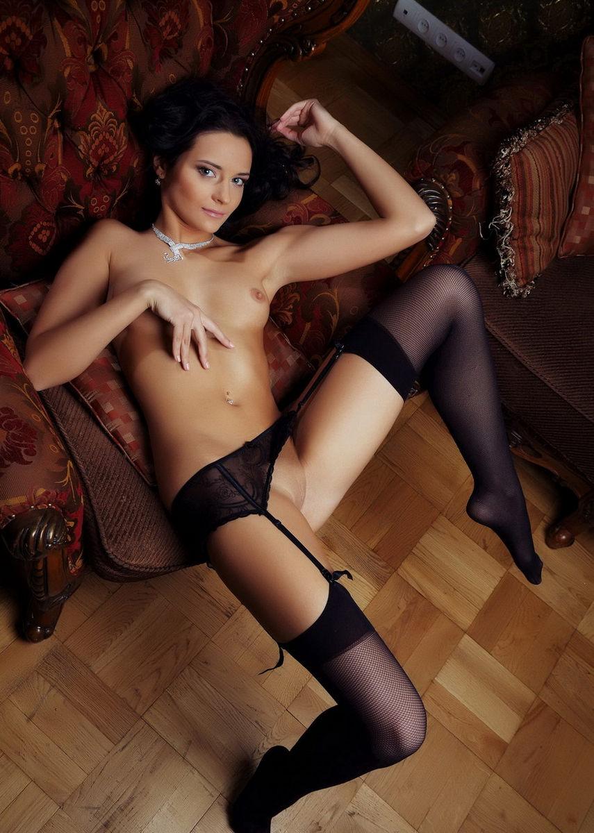 Very Cute Brunette Ardelia A In Sexy Dress  Russian Sexy -9186