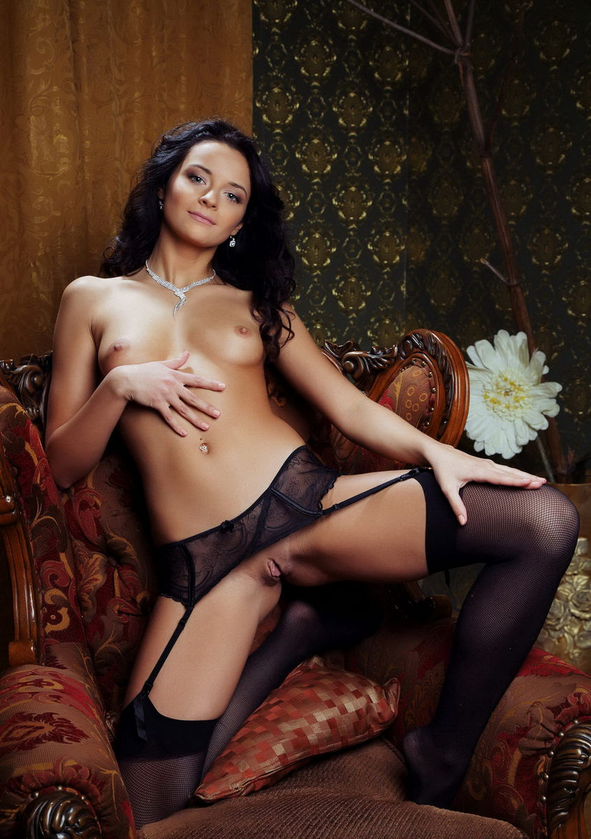 Very Cute Brunette Ardelia A In Sexy Dress  Russian Sexy -8180