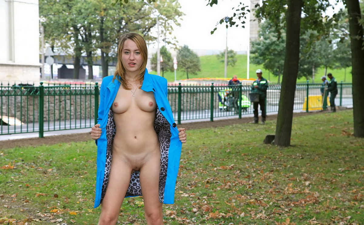 Girls go nude in public-1728
