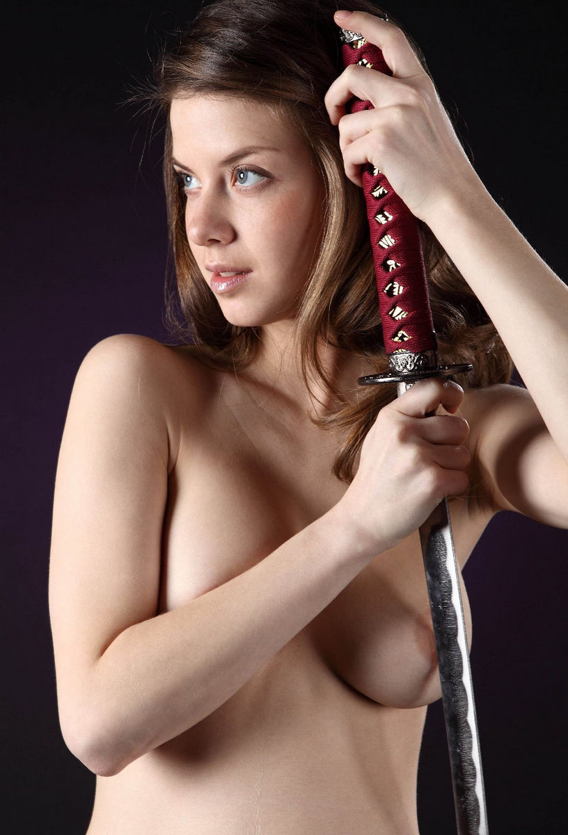 Girls swords sexy with