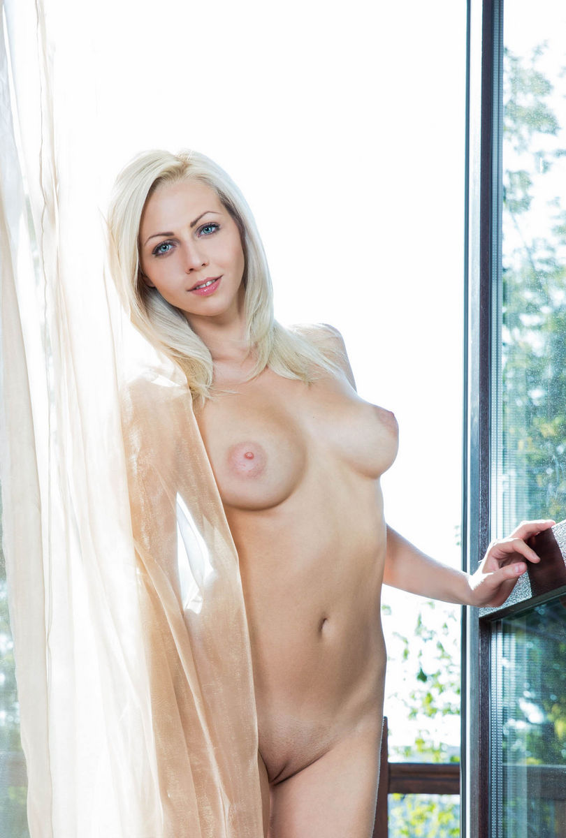 Perfect Blonde Lija With Huge Soft Boobs Ang Long Legs -5378