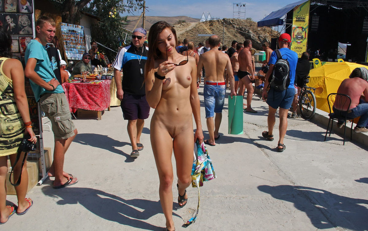 nude girl in town