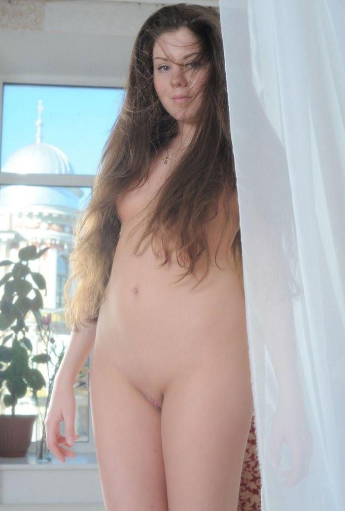 Tender Teen Girl Ksysha Removes Panties In Bed  Russian -7792