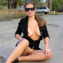 Hot russian milf posing at home and outdoors