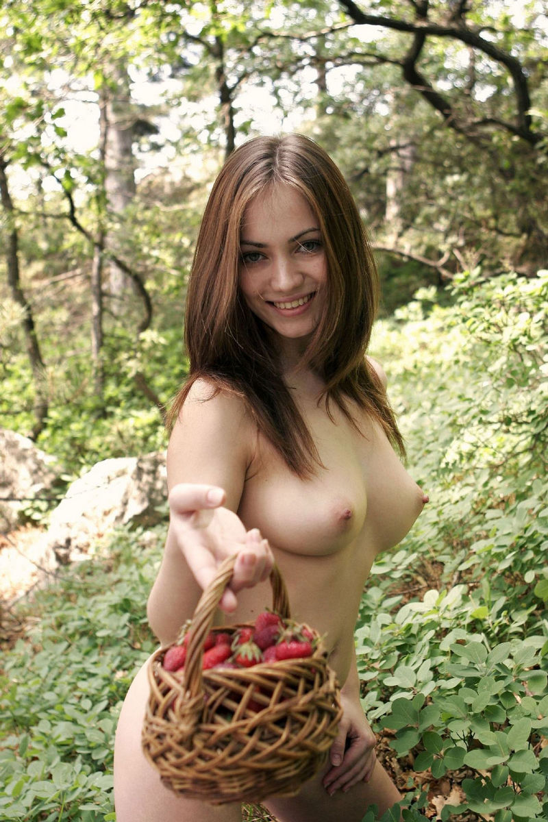 You are sensual lady in woods was specially