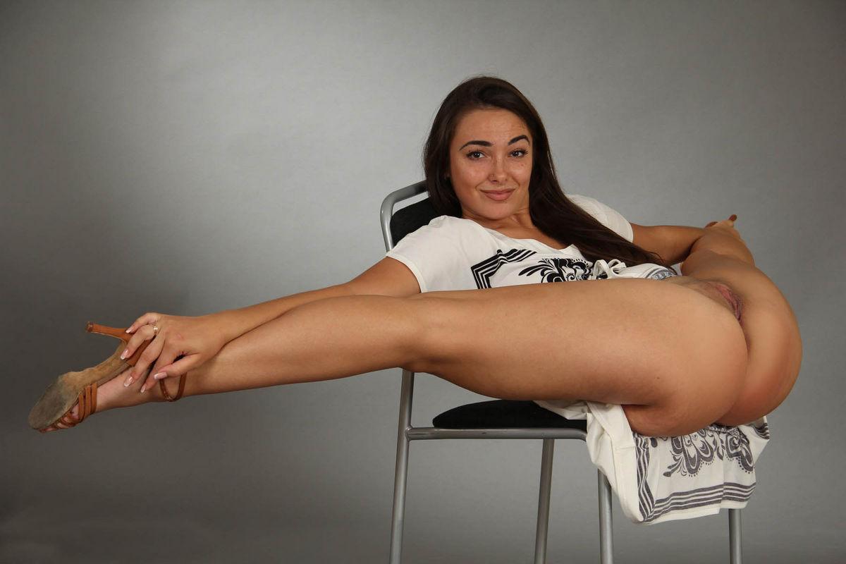 Brunette spreading her legs