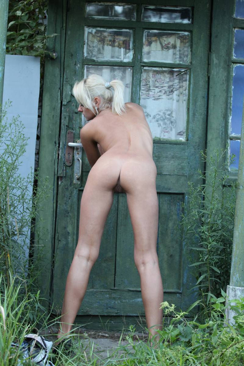 Skinny Blonde Undresses In An Old House  Russian Sexy Girls-5123