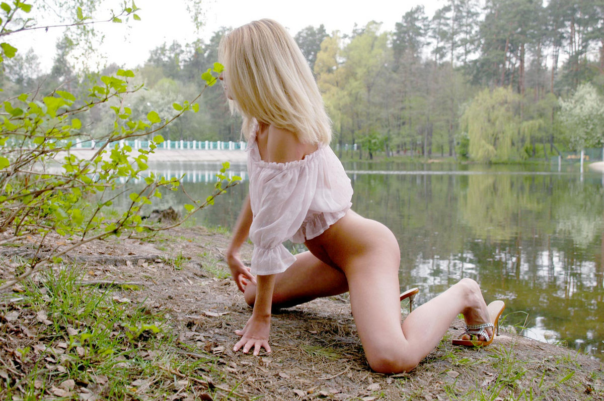 Sexy girl in forest-9080