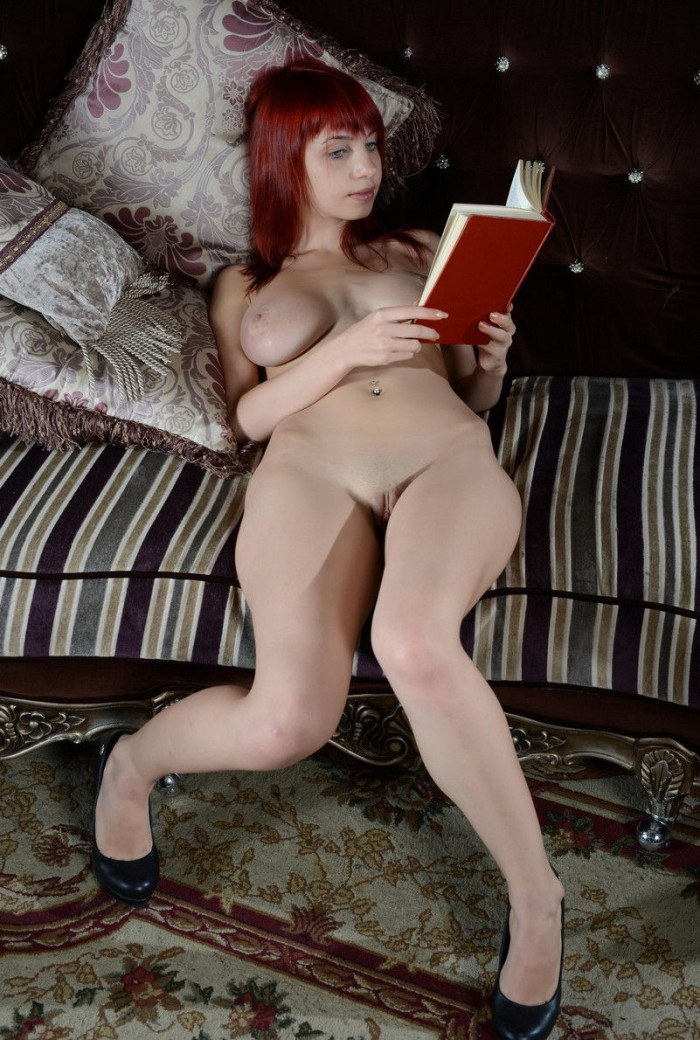 Busty Redhead Teen In Library  Russian Sexy Girls-8937