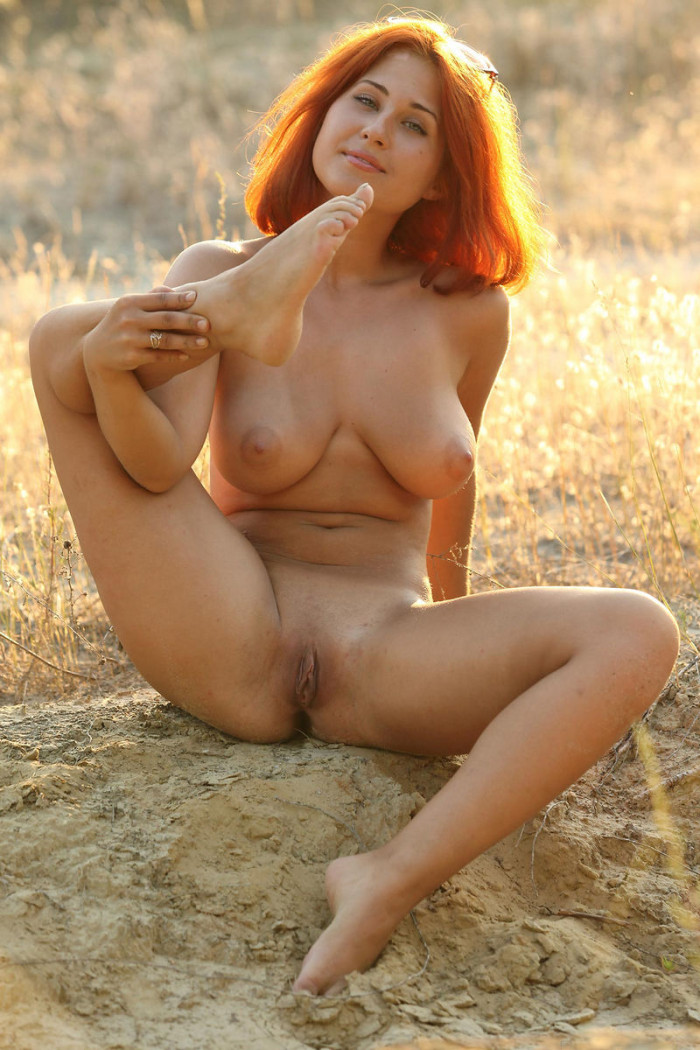 tied naked outside