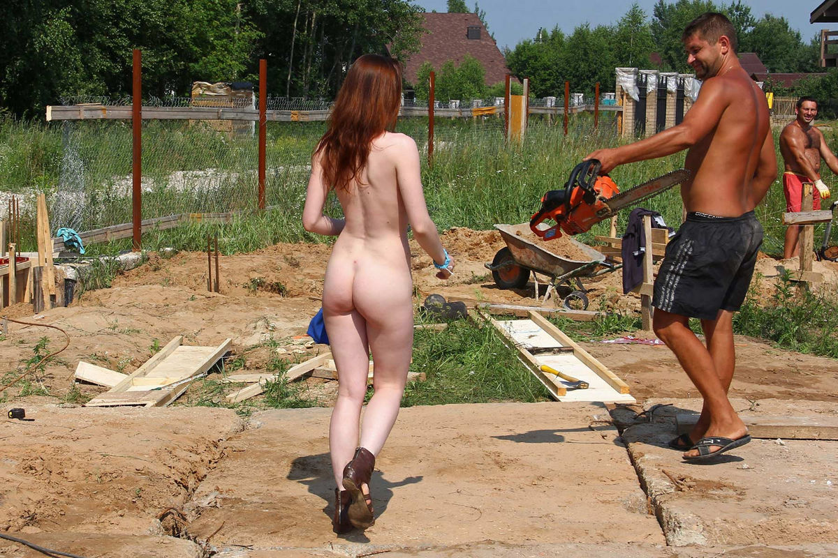 Naked Tamara D Helping On A Construction Site  Russian -2275