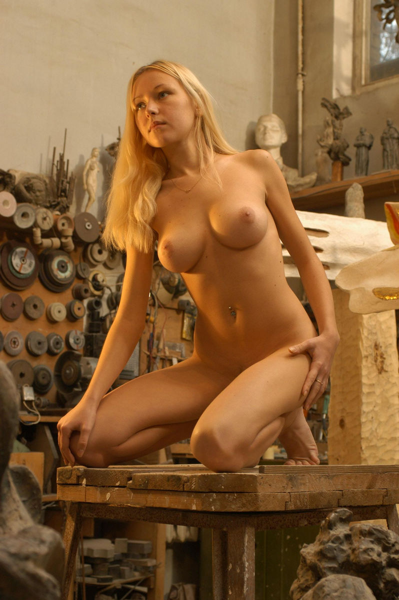 Perfect Teen Blonde In The Carpentry Workshop  Russian -1970