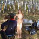 Naked blonde roast barbecue outdoors