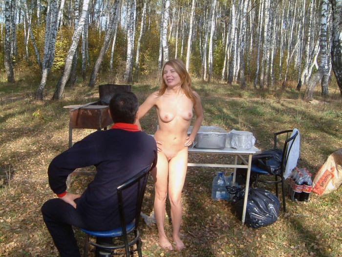 Girl with hairy pussy near Moscow ring road